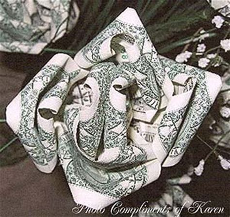 rose made out of money tattoo dollar bill money roses craft at home