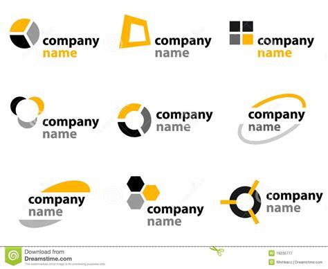 design elements names yellow logos and names