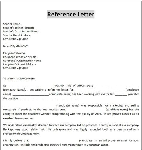 formal letter template microsoft word business form