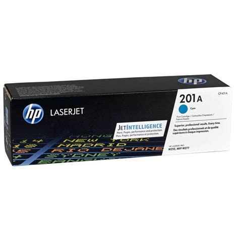 Toner 201 A Color Original hp 201a cyan toner d origine cf401a