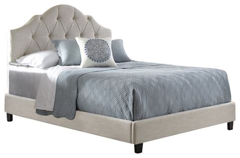 bed images pri pri all in one fully upholstered tuft queen bed in