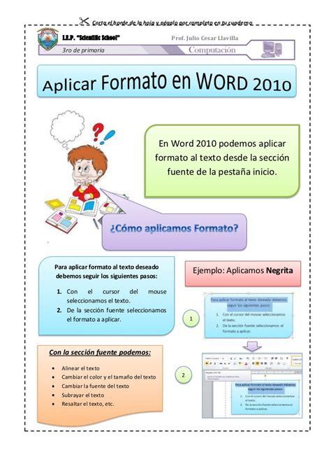 c 243 mo copiar contenido de un pdf a un documento word formato de word aplicar formato en word 2010