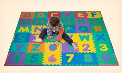 Foam Floor Alphabet And Number Puzzle Mat by Foam Puzzle Floor Mat For Groupon Goods