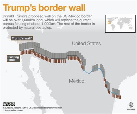 usa mexico border map s border wall explained mexico al jazeera