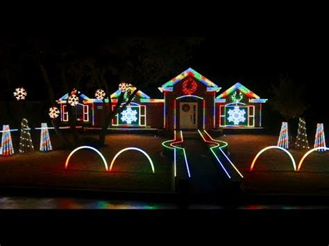 2014 johnson family dubstep christmas light show