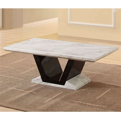 midas gloss black marble coffee table 18758 furniture in
