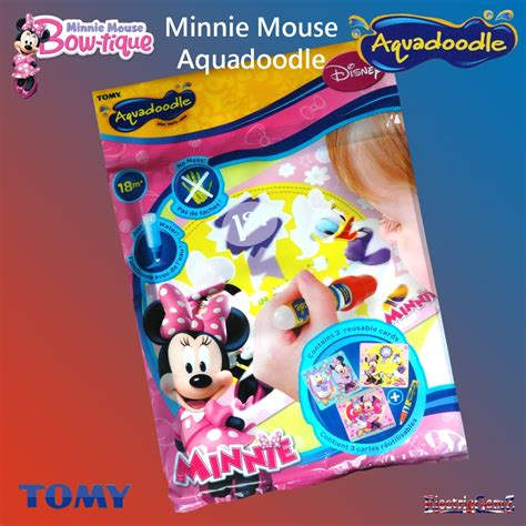 minnie mouse aqua minnie mouse bow tique aquadoodle mini mats