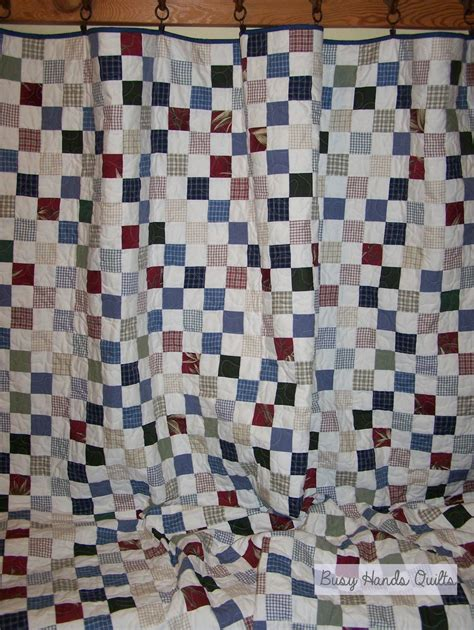 busy quilts custom checkerboard quilt finished