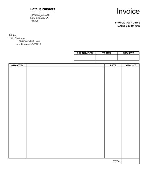 invoice template free pdf best photos of fill in and print invoices free printable