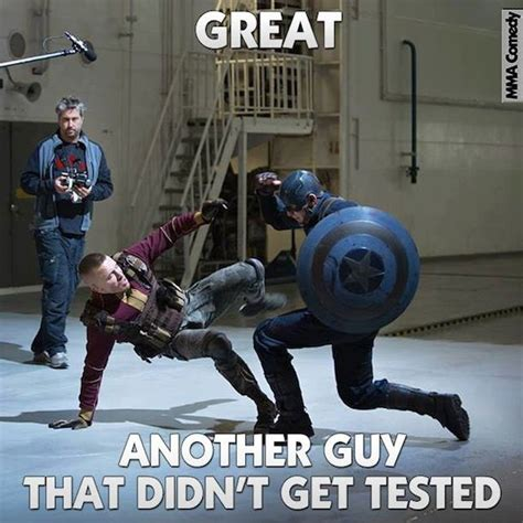 Captain America Meme - gsp vs captain america meme ufc pinterest martial