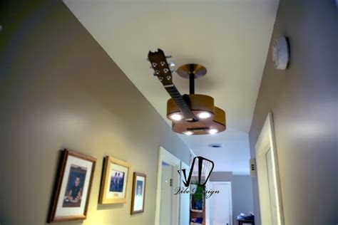 turn ceiling light into turn a guitar into a ceiling light fixture home design