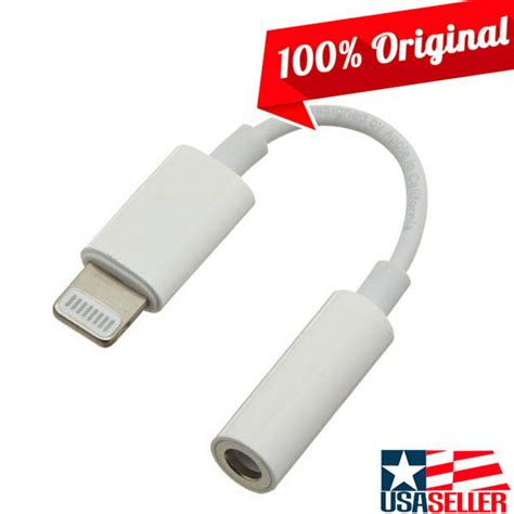 iphone headphone adapter genuine oem apple lightning to 3 5 mm headphone adapter iphone x 8 7 plus 190198001757 ebay