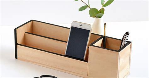 printable desk organizer make it minimal wood desk organizer curbly