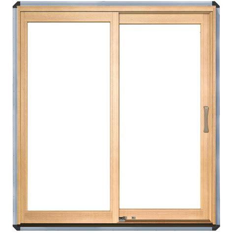 andersen 60 inch series sliding patio door sizes shop pella 71 25 in x 79 5 in clear glass left white
