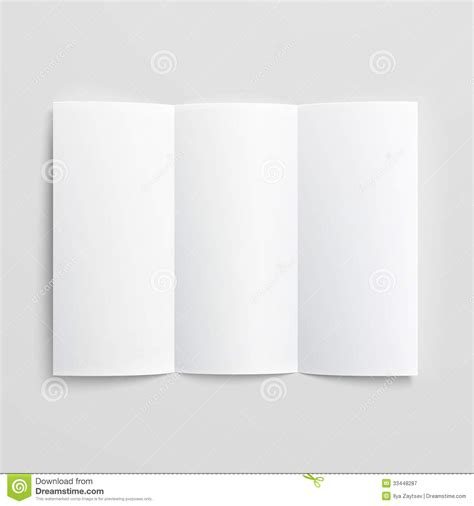Three Fold Paper - blank trifold paper brochure royalty free stock
