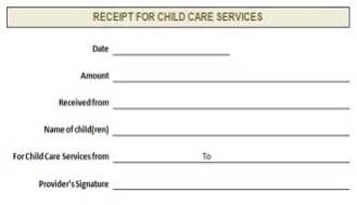 Child Care Receipt Template Daycare Receipt Template