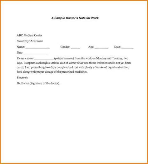 return to work notice template 6 return to work letter from doctor writable calendar