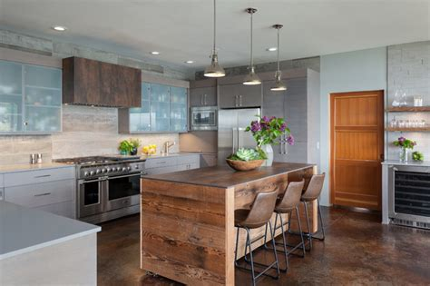cool kitchen island cool kitchen island wrapped in wood and movable