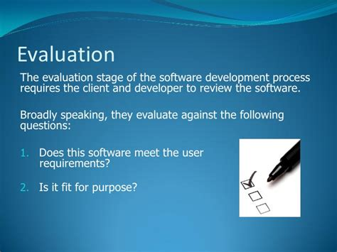 Appraisal Letter For Software Developers 6 the software development process evaluation