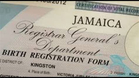 Jamaican Marriage Records Mobile Birth Registration Unit Launched Rjr News Jamaican News