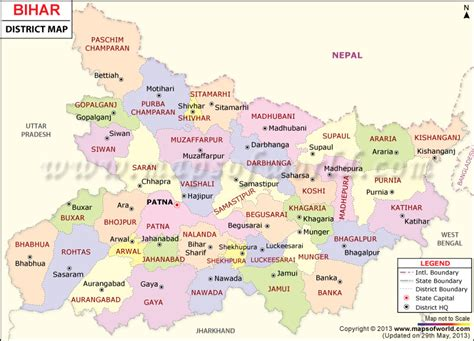 world map city wise bihar map bihar districts