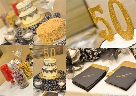 Black And Gold 50th Birthday Decorations by Black Gold 20 S Theme 50th Birthday Celebration Kustom