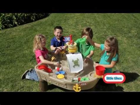 Little Tikes Anchors Away Pirate Ship Water Table Anchors Away Pirate Ship Youtube