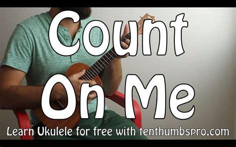 ukulele tutorial count on me count on me bruno mars easy beginner song ukulele