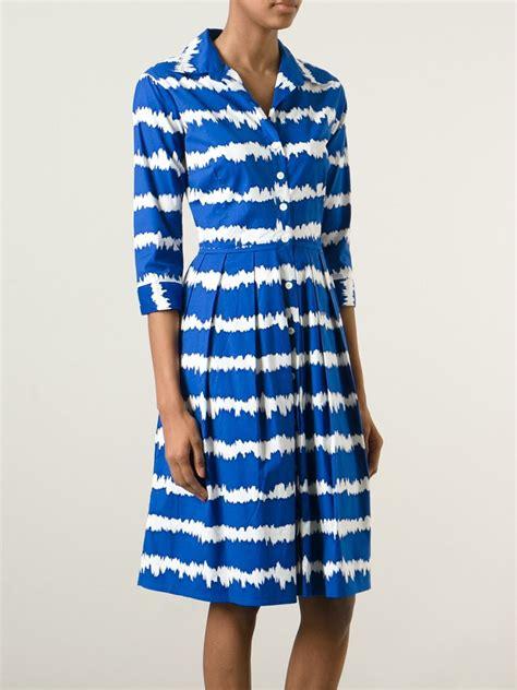 Dress Blue 1 lyst sung stretch cotton dress in blue