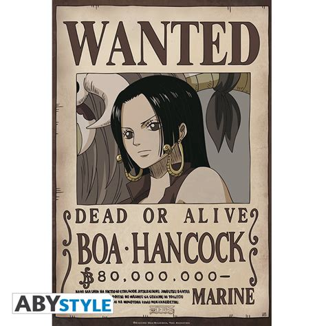 Poster Wanted One one poster one wanted boa hancock 52x35cm