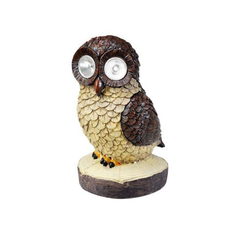 Barn Owl Solar Light By Garden Selections Owl Solar Lights