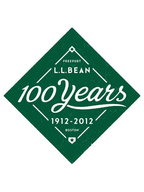 ll bean l l bean 100 year logo graphis