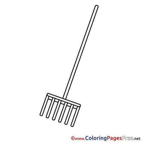 rake coloring pages for free