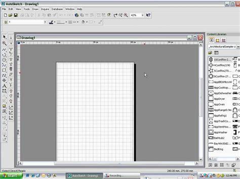 Auto Sketch by Autosketch Start Tutorial Part 1 Wmv