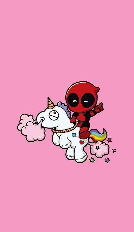 wallpaper like cartoon deadpool and unicorn iphone wallpaper lockscreen υทℓσcк