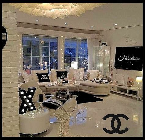 chanel inspired beauty room home interior design