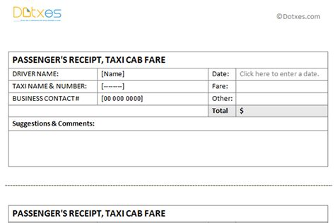 Seatac Taxi Receipt Template by Taxi Receipt Template 3 Per Page Dotxes
