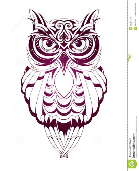 owl tattoo stock vector illustration of isolated symbol