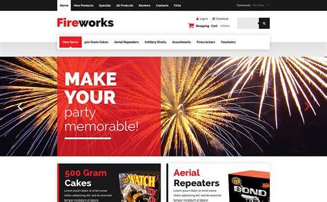 fireworks shop zencart template 54620