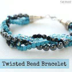 how to make a bracelet with twisted bead strands