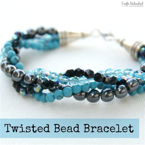 make beaded jewelry how to make a bracelet with twisted bead strands