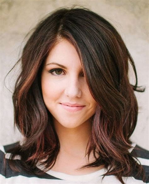 Hairstyles Dark Hair Medium Length | medium dark hairstyles wavy cute hairstyles for medium