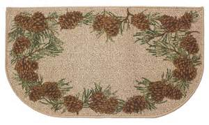 pine cone hearth rug fireplace wood stove rug for cabin