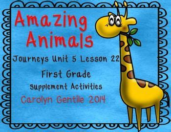 amazing animal journeys amazing animals journeys unit 5 lesson 22 1st gr supplement activities spelling word practice