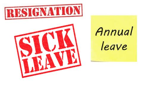 sample of a resignation letter can an employee take leave after giving notice