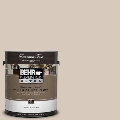 1 gal ul170 16 almond wisp flat exterior paint