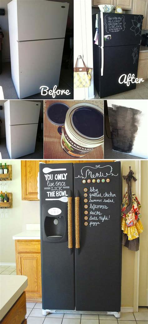 diy chalkboard painting 21 inspiring ways to use chalkboard paint on a kitchen 3