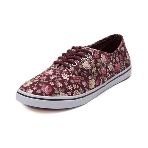 Vans Authentic Classic Maroon shop for vans authentic lo pro floral skate shoe in maroon