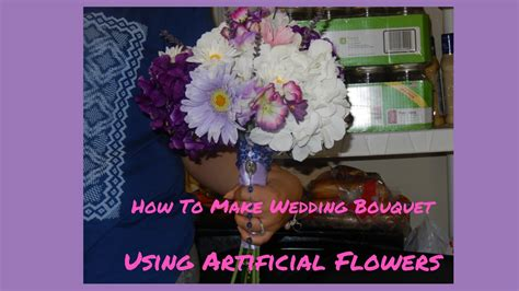 How To Make Wedding Bouquets Using Artificial Flowers by How To Make A Wedding Bouquet Using Artificial Flowers