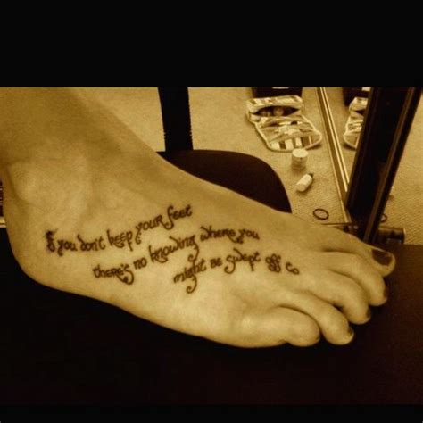 tattoo font lord of the rings lord of the rings quote as a foot tattoo if i were to